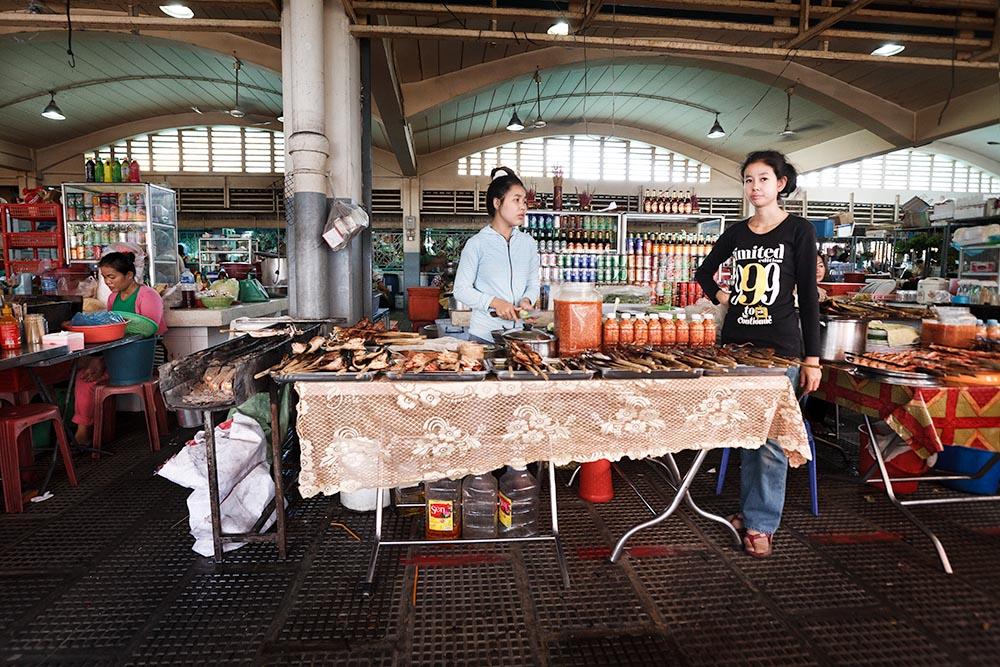 Central Market Foodstalls / Phnom Penh, Kambodscha