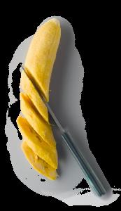 Kochbanane geschnitten
