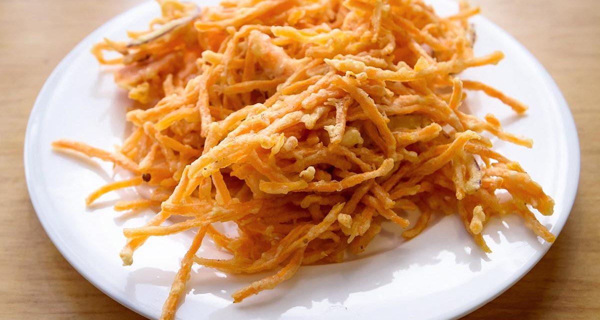 Gebackene Süsskartoffel mit Shrimps / Bánh Khoai