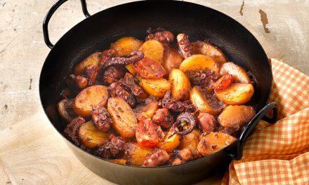 Geschmorter Oktopus mit Kartoffeln