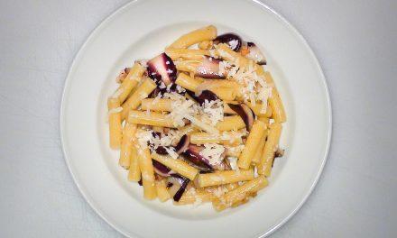 Pasta mit Radicchio und Lardo
