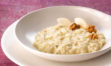 Risotto mit Birne und Gorgonzola