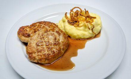 Kalbsbutterschnitzel mit Kartoffelpüree