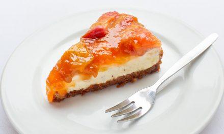 Cheesecake mit Rhabarberkaramell