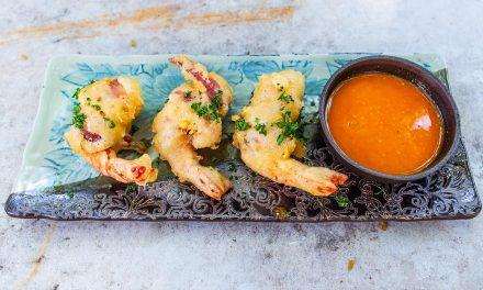 Shrimps mit Speck